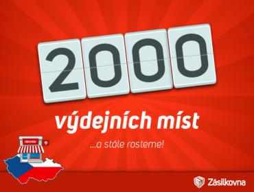 2000 výdejních míst Zásilkovna.cz