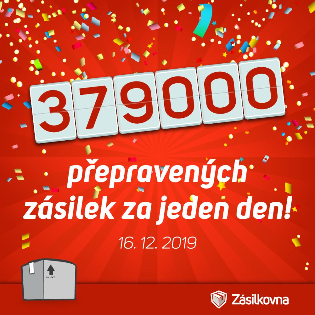 Zásilkovna rekord v roce 2019
